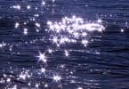 Glitzer Licht auf Wasser