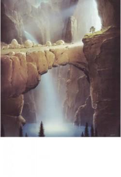 """Das Bild ist von Hans-Werner Sahm, einem begnadeten Künstler unserer Zeit, geschaffen worden. Es ist im Buch """"Reise ins Licht"""", erschienen im Aquamarin-Verlag (ISBN 3-89427-285-6), zu finden.- Es heißt an anderer Stelle in diesem wunderschönen Buch: """"Es gibt in Wahrheit kein Gott-Suchen, weil es nichts gibt, wo man ihn nicht finden könnte."""" (Martin Buber)"""