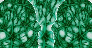 Gehirn mit neuronalen Pfaden