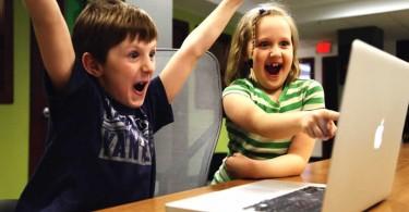 Kinder mit Begeisterung