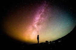 Sternenhimmel und Mensch
