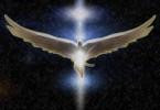 Engel in Lichtsäule