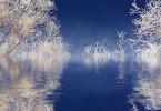 Schnee auf dem See - Spiegelung