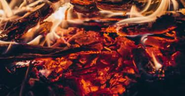 Feuer-Glut-Hitze-lodern