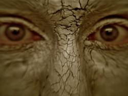 Gesicht-Maske-braun-Schlamm