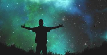 Mensch-mann-Schatten-Universum-universe