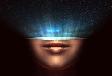 Gesicht-Kopf-universe-universum