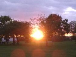 Aufstieg  Sonnenuntergang