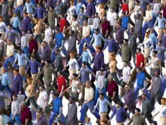 Politik-Menschen-Menge-gleichschritt-crowd