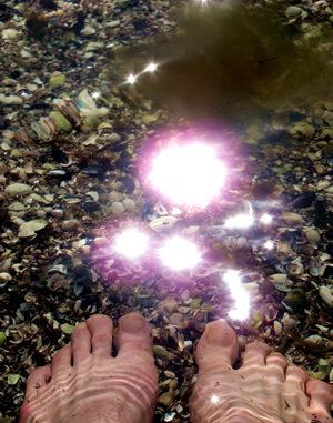 Füße im Licht
