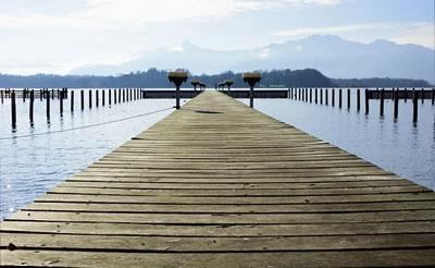 Brücke am See