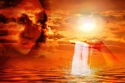 Vergebung und vergeben-Seele im Meer