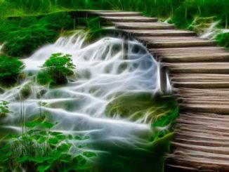 Mystischer Wasserfall