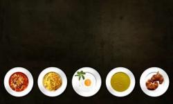 Speisen auf Tellern