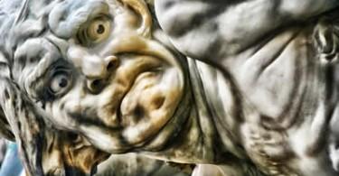 Schmerz Gesicht Skulptur