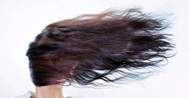 fliegende Haare
