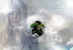Göttliche Magie-Frau in weiss