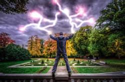 Mann-Blitz-mystisch