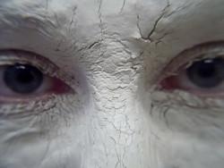 Heilerde Gesicht Maske weiss