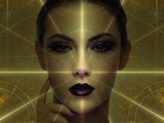 Frau-gold-sterne-geistig-girl