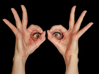 Augen-Haende-Blick-view