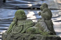 junge-buddha-affe-stone-carving-