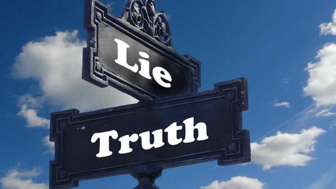 Schild-Luege-Wahrheit-truth