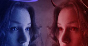 Engel-Teufel-Frau-angel