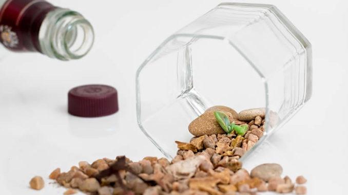 glas-Steine-nahrung-drough