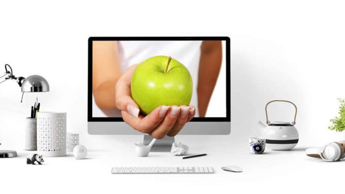 Apfel-Bildschrim-pc-hand-apple