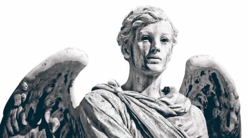 engel-angel-schwarz-weiss