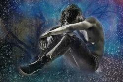 Achtsamkeit und Würde leben-mann-Trauer-abstrakt-love