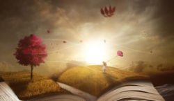 Kreativität und Sehnsucht buch landschaft maedchen traum book