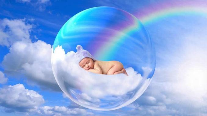 himmel-regenbogen-luftblase-baby