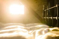 Schlafen und Träumen Bett licht bed