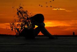 frau-sunset