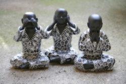 Verantwortung und Spiritualität -nix-hoeren-sehen-sagen-buddha