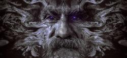 maske-mann-alt-sw-mysatisch-portrait
