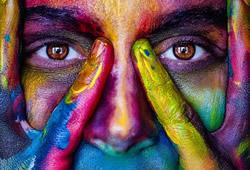 frau-gesicht-bunt-Farbe-girl