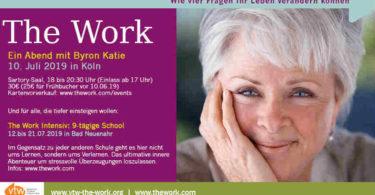 the work-Byron Katie -live in Koeln-Juli 2019