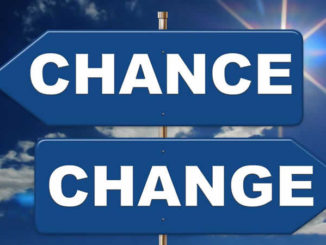 Leben ist Veränderung-wechsel-Richtung-Schild-direction