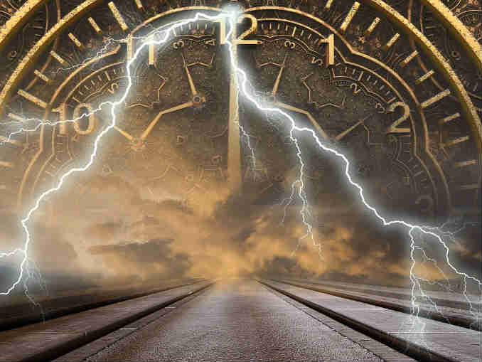 Wesen-Zeit-Blitz-Strasse-Uhr-time