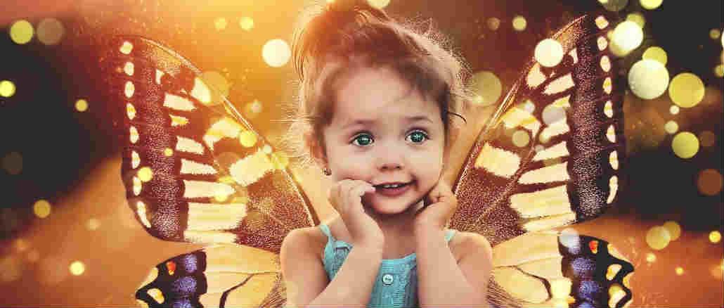 Zauber-Magie-Fantasie-Kindheit-Schmetterling-child