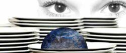 Corona wo bleibt die Erkenntnisbeschleunigung-Erkenntnis-Augen-Teller-Weltkugel-figure-of-speech