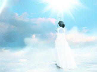 Licht-Frau-Himmel-ascension