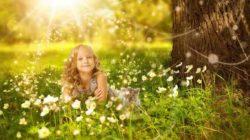Zerstört Macht unsere Seele inneres kind wiese sonne girl