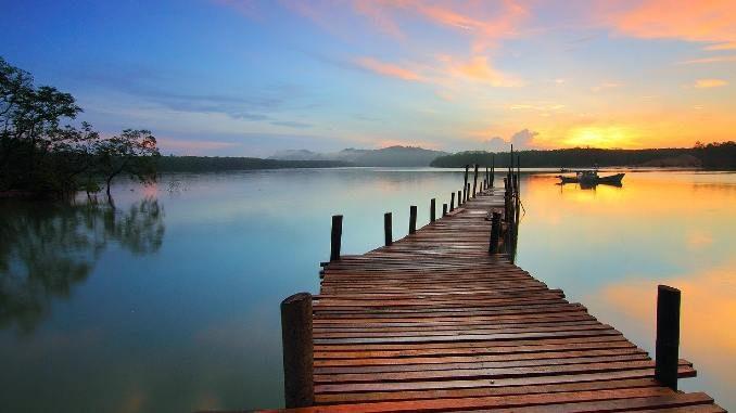 steg-see-abendrot-sunrise