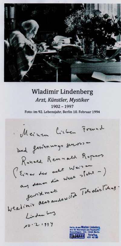 LINDENBERG Widmung fuer Roland Februar 1994