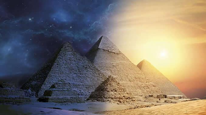 AMORC-Pyramiden-Licht-Sand-Polaritaet