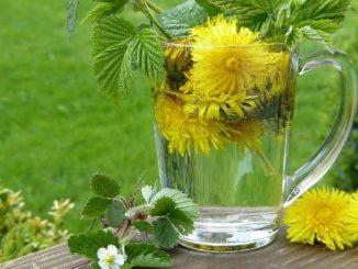 blumen in einer vase im garten